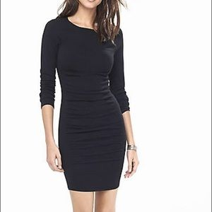 Express Black Ruched Sweater Dress